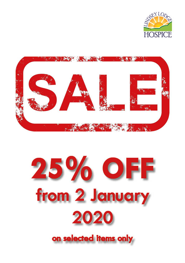25 sale poster