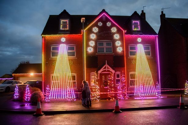 Brigley House christmas lights