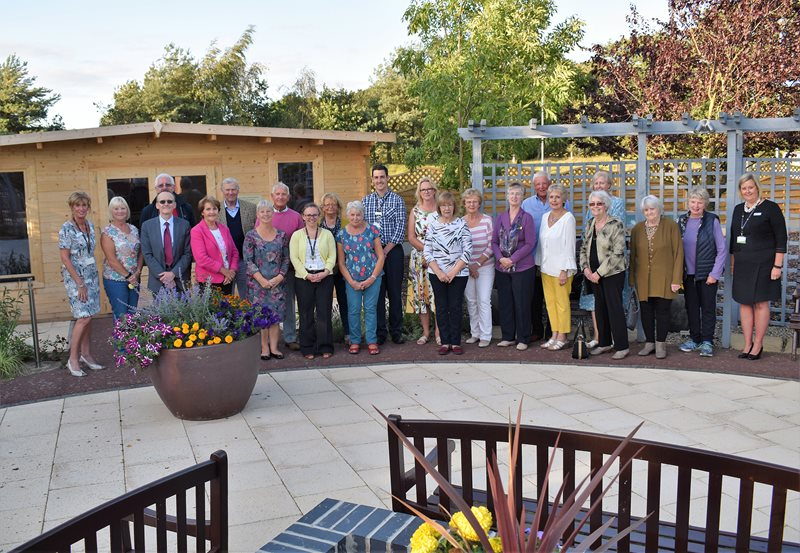 Gardeners pictured at hospice