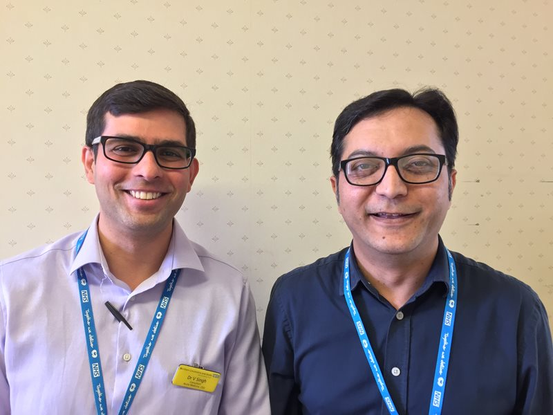 Dr Singh (left) is pictured with Dr Qureshi (right).