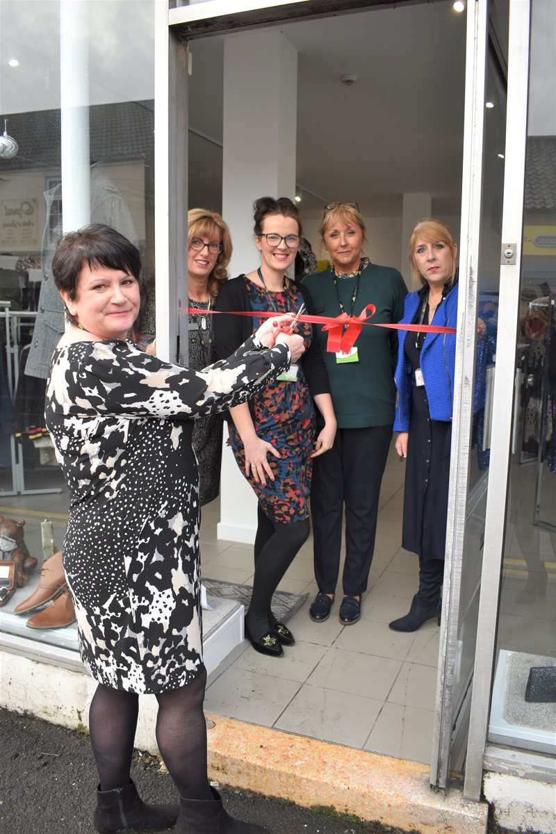 Staff opening shop in Thorne